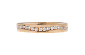 22ct Gold Full Eternity Cubic Zirconia Ring (LR-5256)