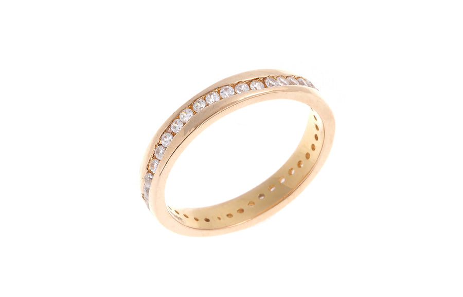 22ct Gold Full Eternity Ring set with Swarovski Zirconias (4.2g) LR-5256