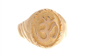 22ct Yellow Gold Om Gents Ring (LR-5428)