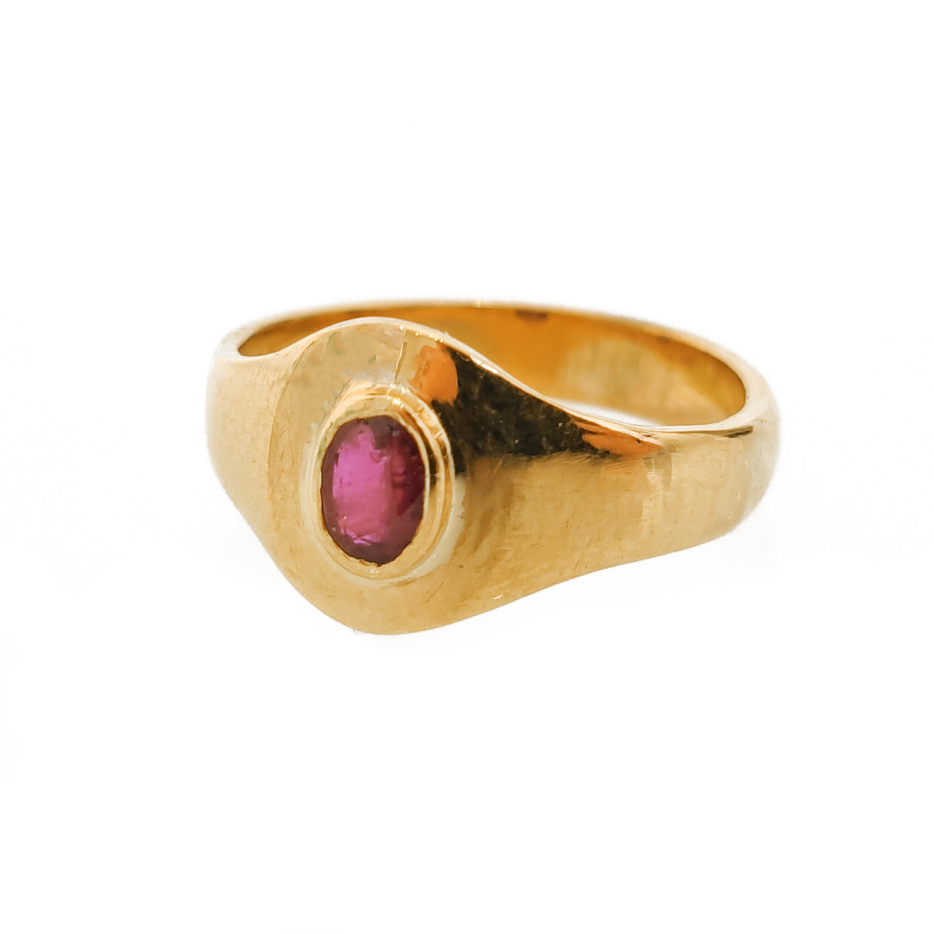 22ct Gold Ring set with Ruby LR-5868