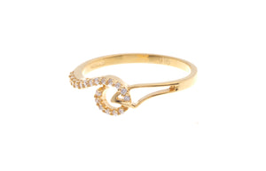 22ct Yellow Gold Dress Ring with Cubic Zirconia Stones (LR-6692)