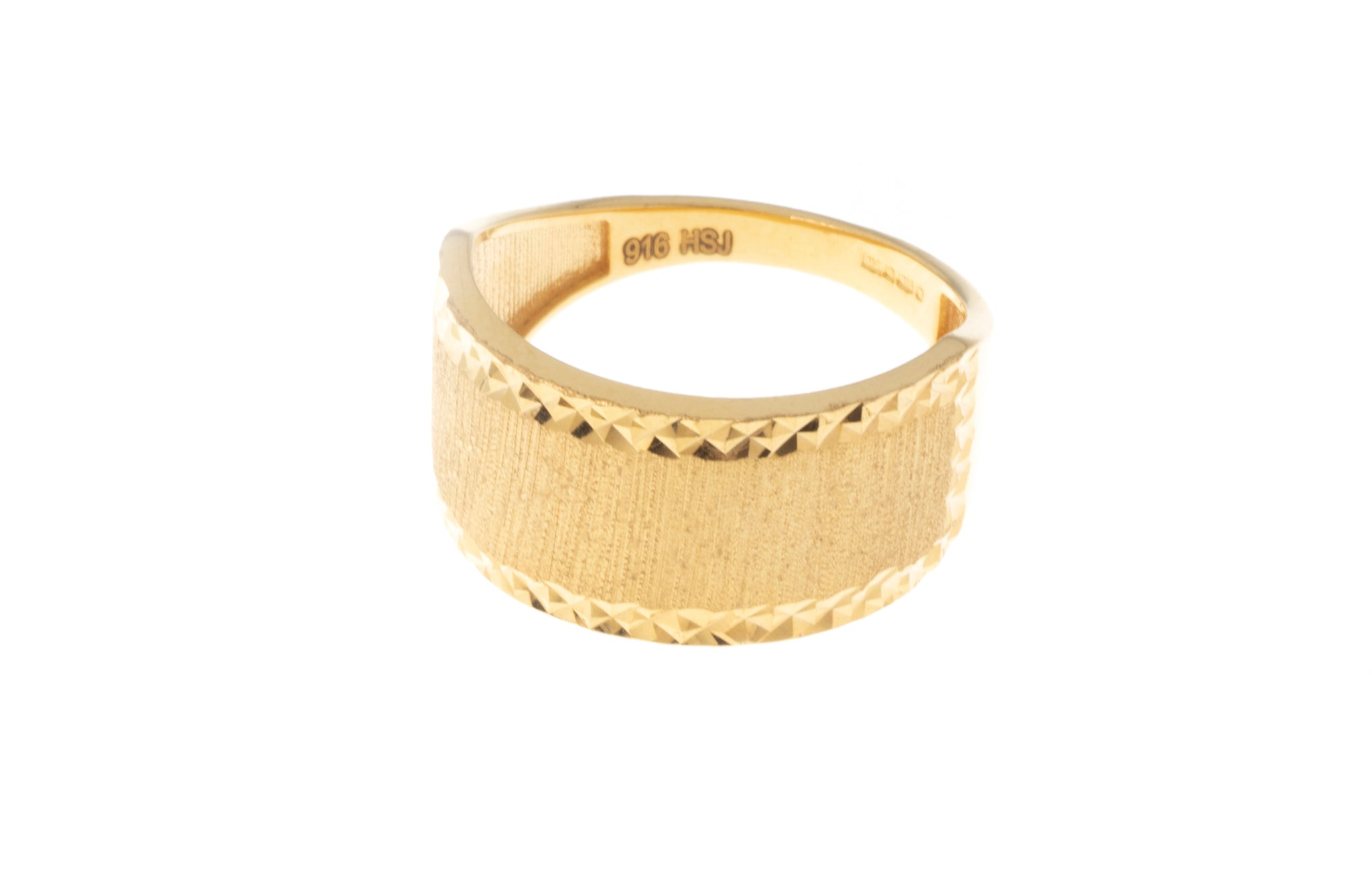 22ct Gold Dress Ring with Satin Finish (3.8g) LR-7351