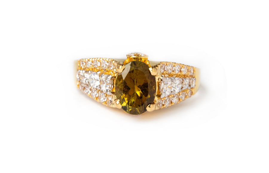 22ct Gold Dress Ring set with Cubic Zirconias (3.43g) LR-7803