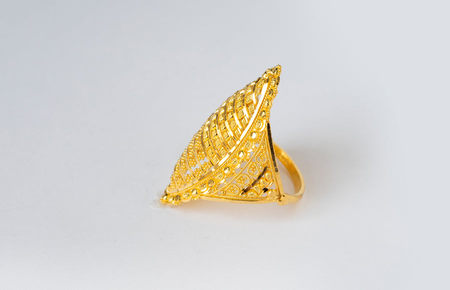 22ct Gold Filigree Dress Ring (6.8g) LR-7807