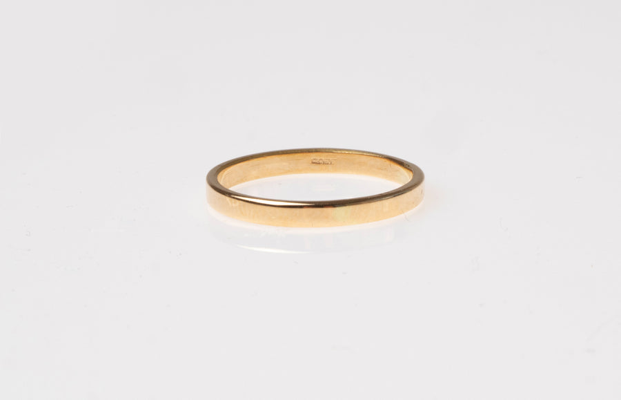 18ct Yellow Gold D-Shape Wedding Band (3.1g) 7813