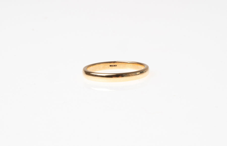 18ct Yellow Gold D Shape Wedding Band 7816