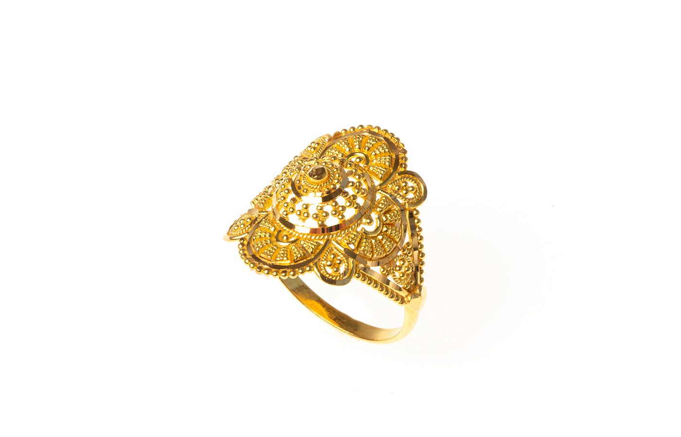 22ct Gold Filigree Dress Ring (3.5g) LR-7824