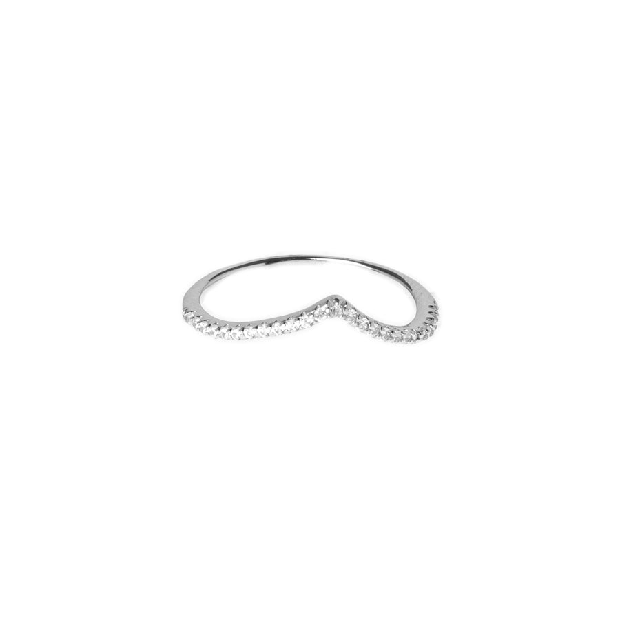 Sterling Silver Curved Eternity set with Cubic Zirconias LR-7928