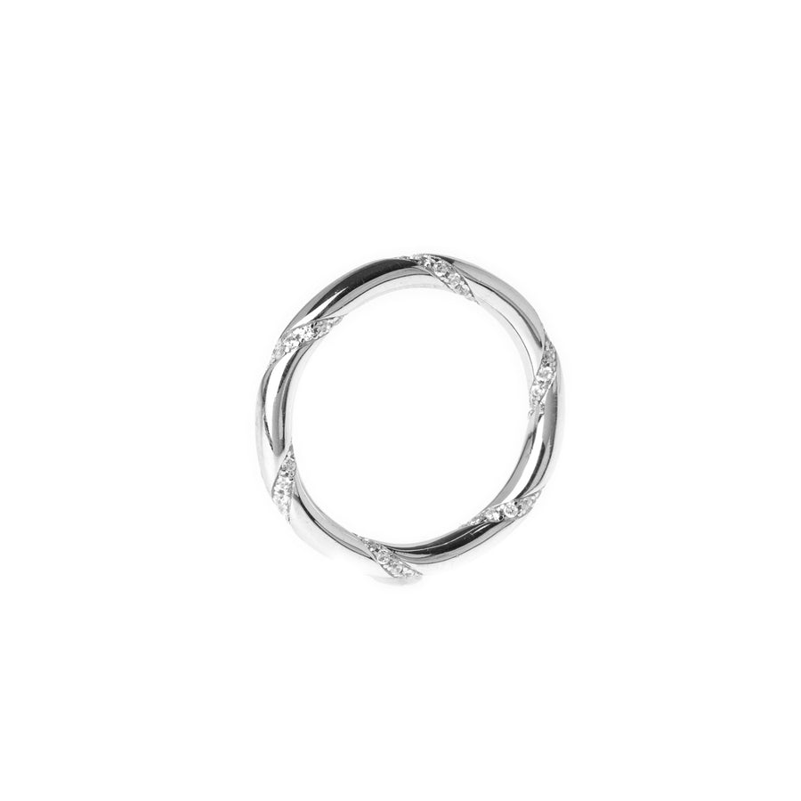 Sterling Silver Eternity Ring set with Cubic Zirconias LR-7933