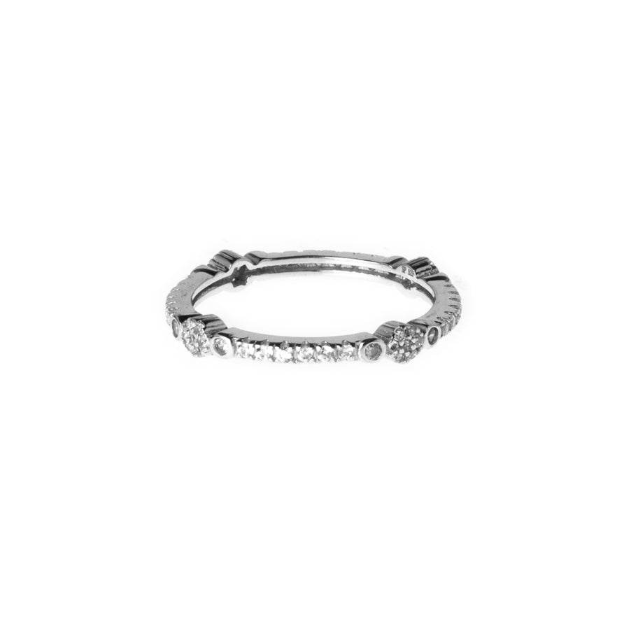 Sterling Silver Eternity Ring set with Cubic Zirconias LR-7938