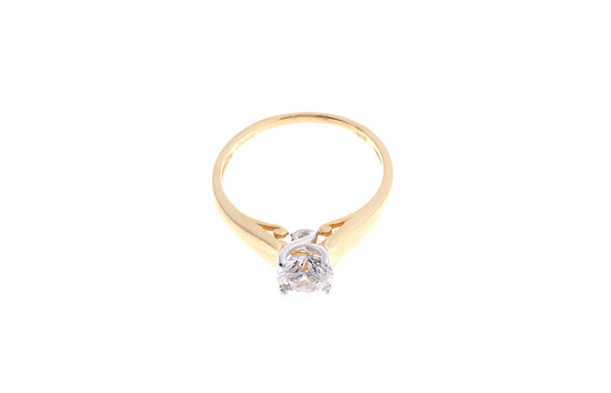22ct Gold Swarovski Zirconia Engagement Ring (2.91g) LR0269
