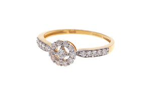 22 Carat Gold Cubic Zirconia Dress Ring (LR10005) (online price only)