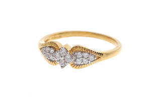 22ct Yellow Gold Cubic Zirconia Dress Ring (LR10015)