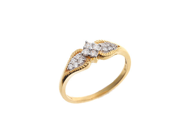 22ct Gold Cubic Zirconia Dress Ring LR10015