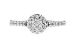 18ct White Gold Cubic Zirconia Engagement Ring (LR1029)