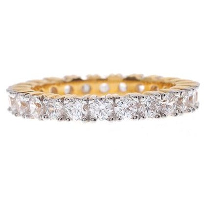 22ct Gold Full Eternity Cubic Zirconia Ring LR11114