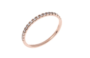 18ct Red Gold Half Eternity Cubic Zirconia Ring (LR13016)