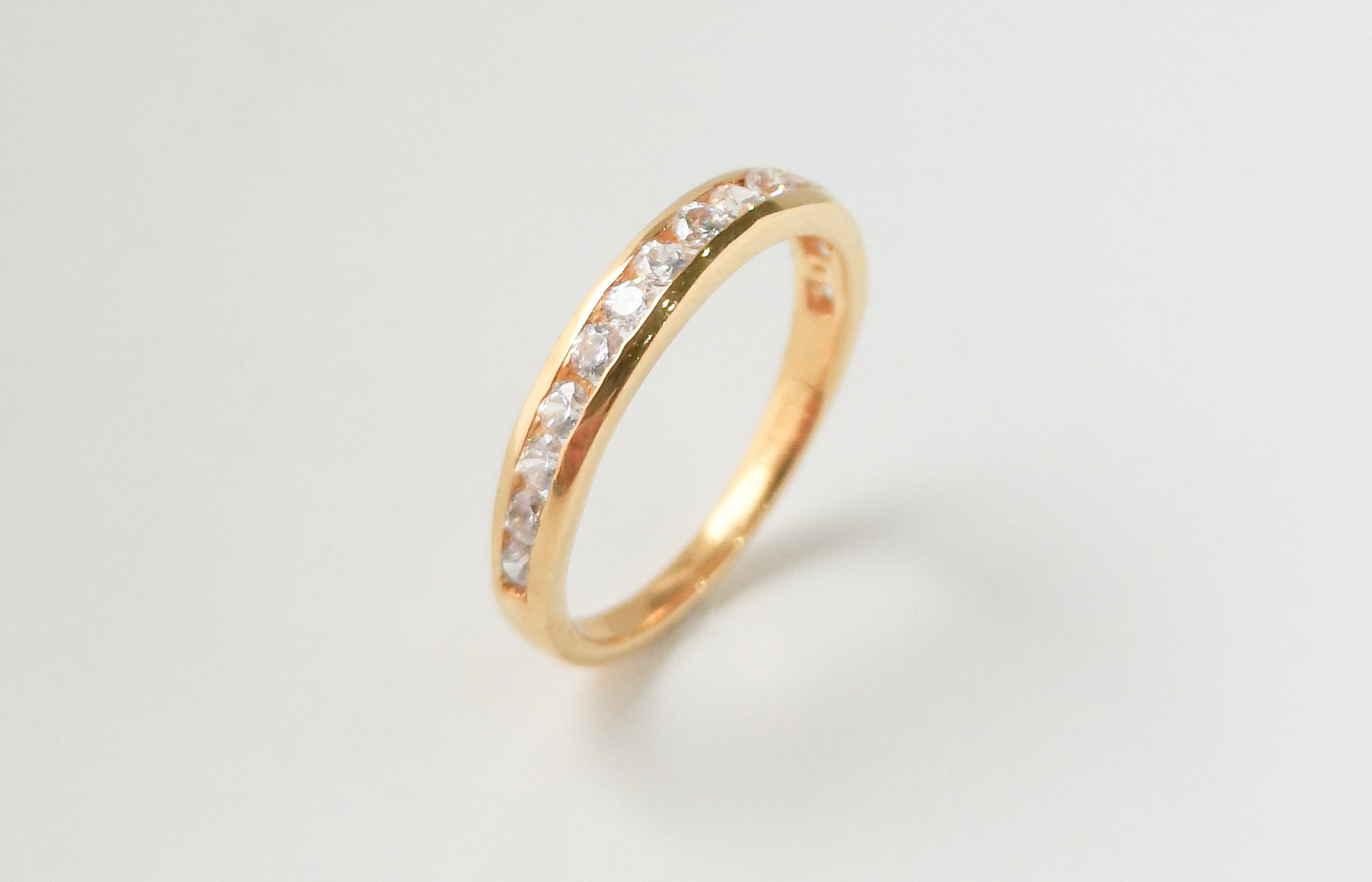Eternity Ring 22ct Gold with Swarovski Zirconias LR13065