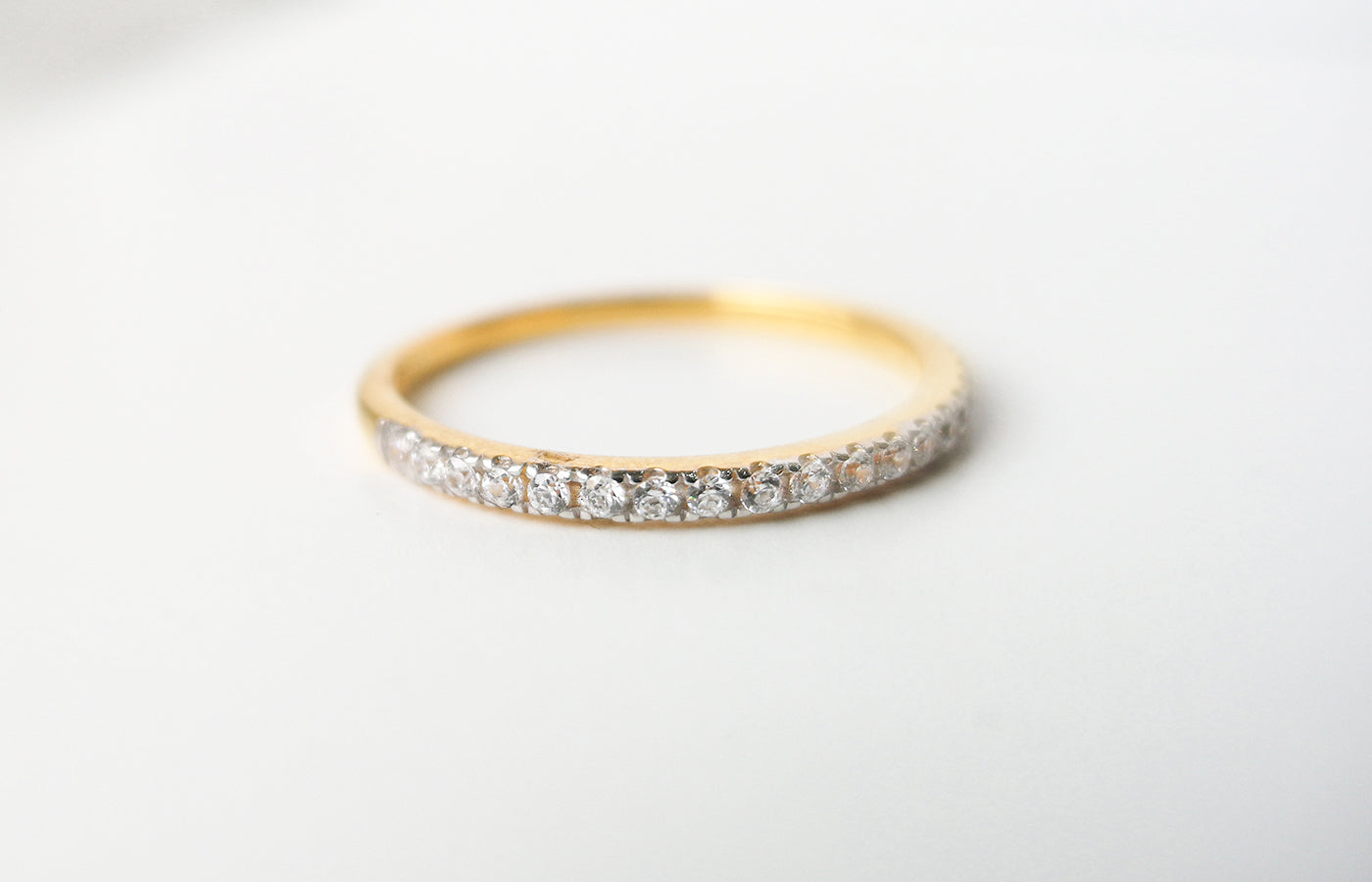 22ct Gold Eternity Ring set with Swarovski Zirconias LR14025