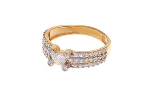 22ct Yellow Gold Cubic Zirconia Dress Ring (LR14138)