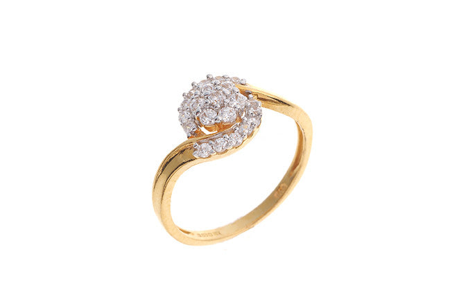 22ct Yellow Gold Cubic Zirconia Dress Ring (LR14542)