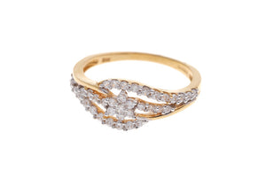 22ct Yellow Gold Cubic Zirconia Dress Ring (LR14550)