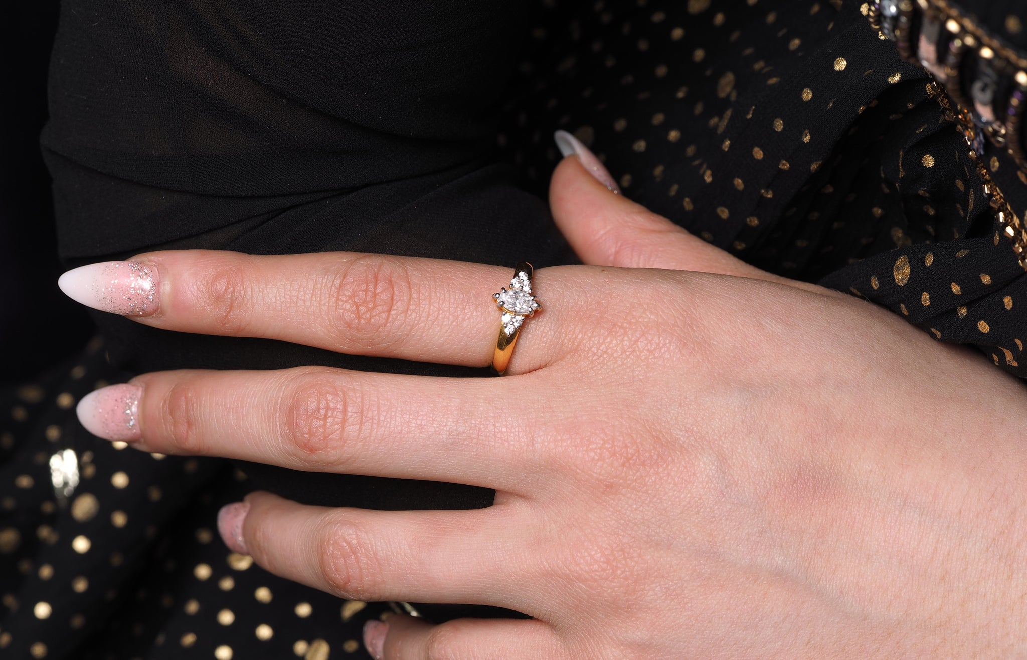22ct Gold Engagement Rings - Minar Jewellers