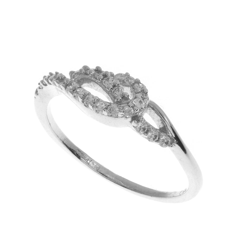 18ct White Gold Cubic Zirconia Dress Ring (LR1470)