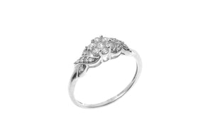 18ct White Gold Cubic Zirconia Engagement Ring (LR1502)