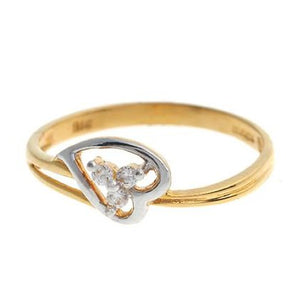22ct Yellow Gold Cubic Zirconia Dress Ring (LR15076)