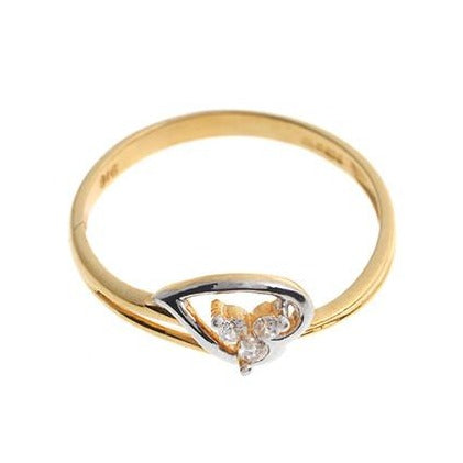 22ct Gold Cubic Zirconia Dress Ring LR15076