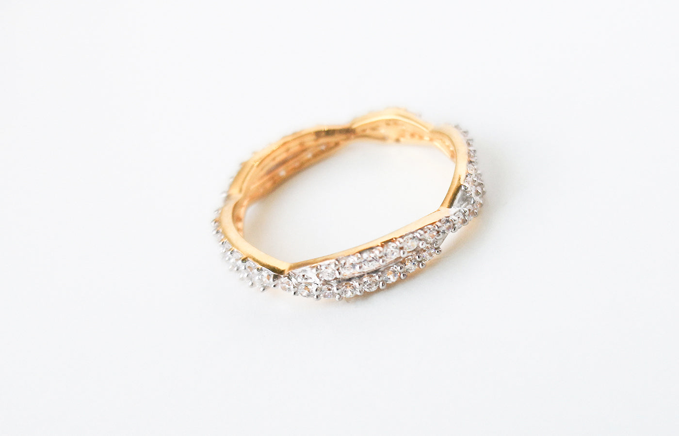 22ct Gold Eternity Ring set with Swarovski Zirconias LR15091
