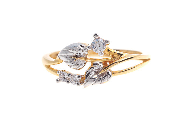 22ct Gold Cubic Zirconia Dress Ring LR15101