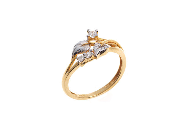 22ct Yellow Gold Cubic Zirconia Dress Ring (LR15101)