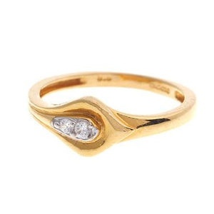 22ct Yellow Gold Cubic Zirconia Dress Ring (LR15103)