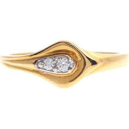 22ct Gold Cubic Zirconia Dress Ring LR15103