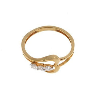 22ct Yellow Gold Cubic Zirconia Ring, Minar Jewellers - 3