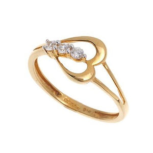 22ct Yellow Gold Cubic Zirconia Ring, Minar Jewellers - 4