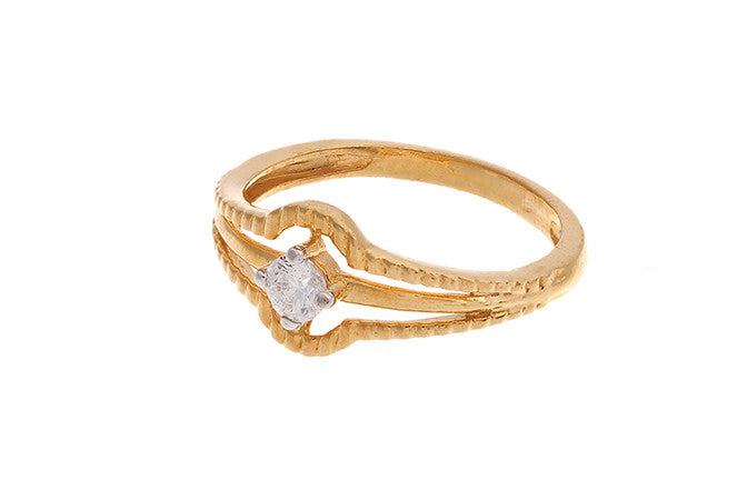 22ct Gold Cubic Zirconia Dress Ring LR15118