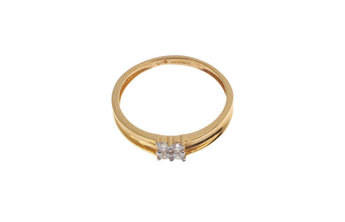 22ct Yellow Gold Cubic Zirconia Engagement Ring, Minar Jewellers - 3