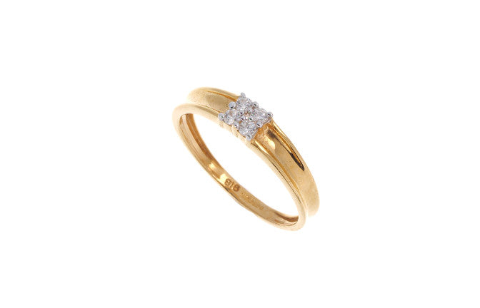22ct Gold Cubic Zirconia Engagement Ring LR15247