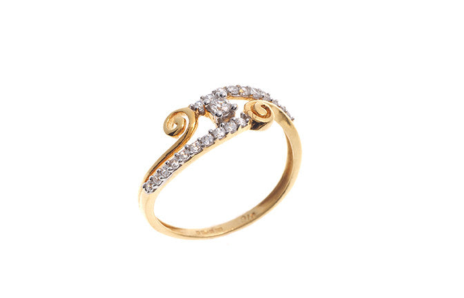 22ct Gold Cubic Zirconia Dress Ring LR15265