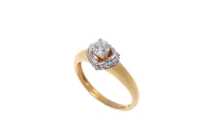 22ct Gold Cubic Zirconia Engagement Ring LR15269