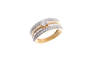22ct Gold Cubic Zirconia Dress Ring (LR15479)