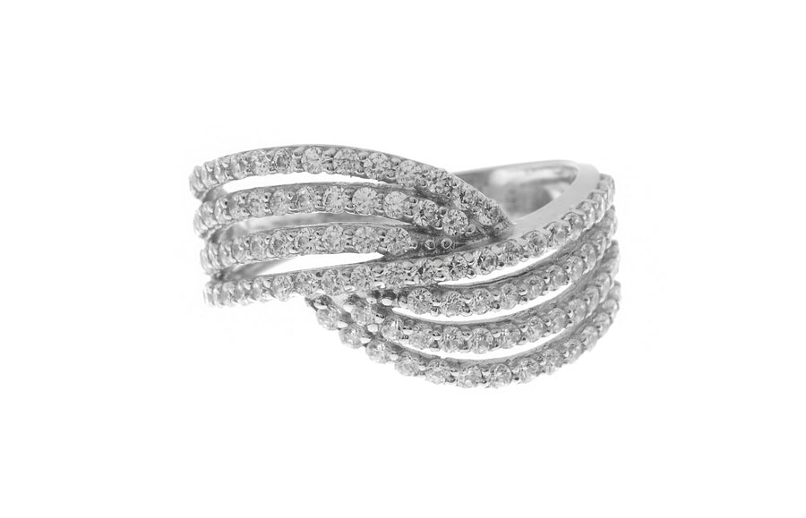 18ct White Gold Cubic Zirconia Dress Ring (LR15539)