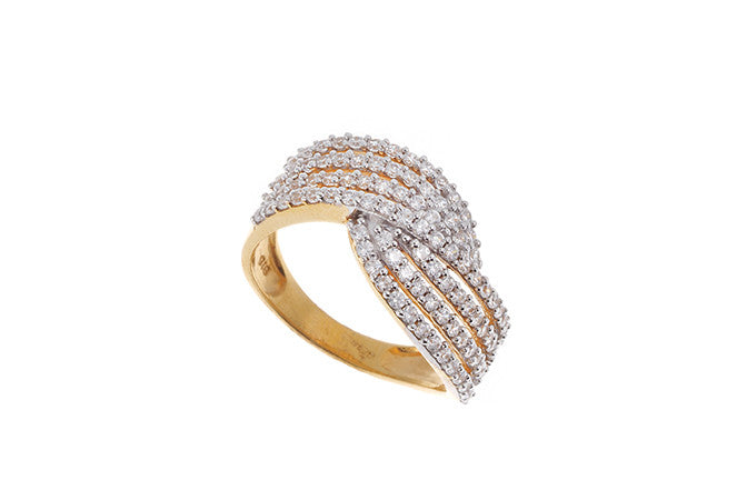 22ct Yellow Gold Cubic Zirconia Dress Ring (LR15539)