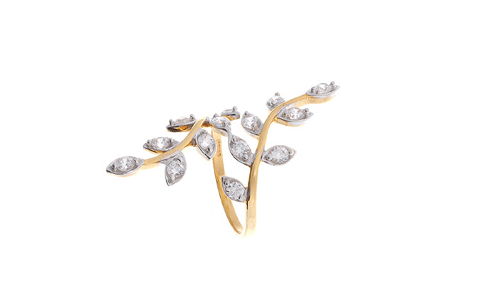 22ct Gold Cubic Zirconia Dress Ring LR15683