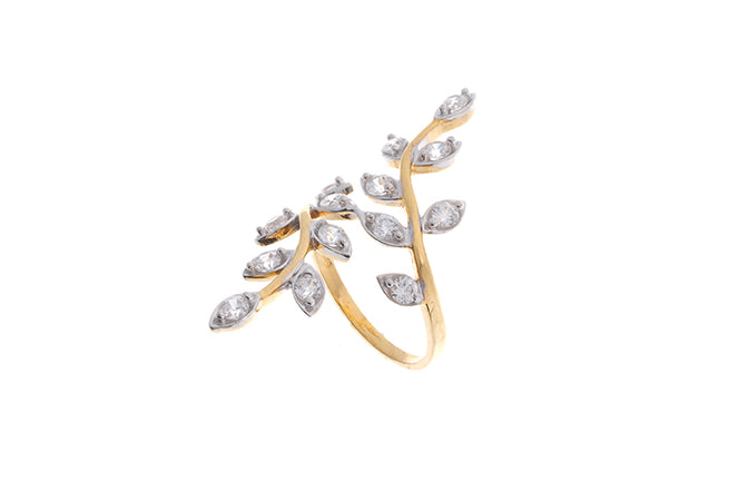 22ct Gold Cubic Zirconia Dress Ring (LR15683)