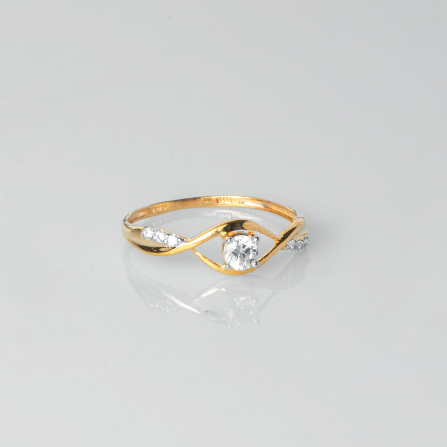 22ct Gold Swarovski Zirconia Dress Ring LR16039