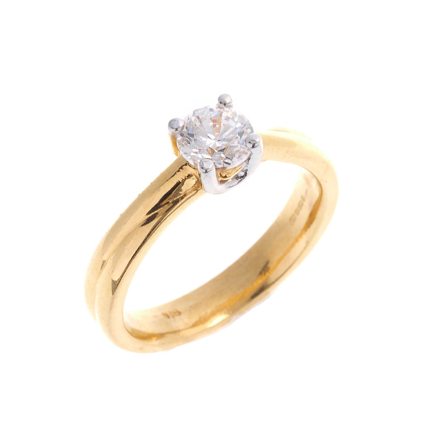 22ct Yellow Gold Cubic Zirconia Engagement Ring (LR16489)